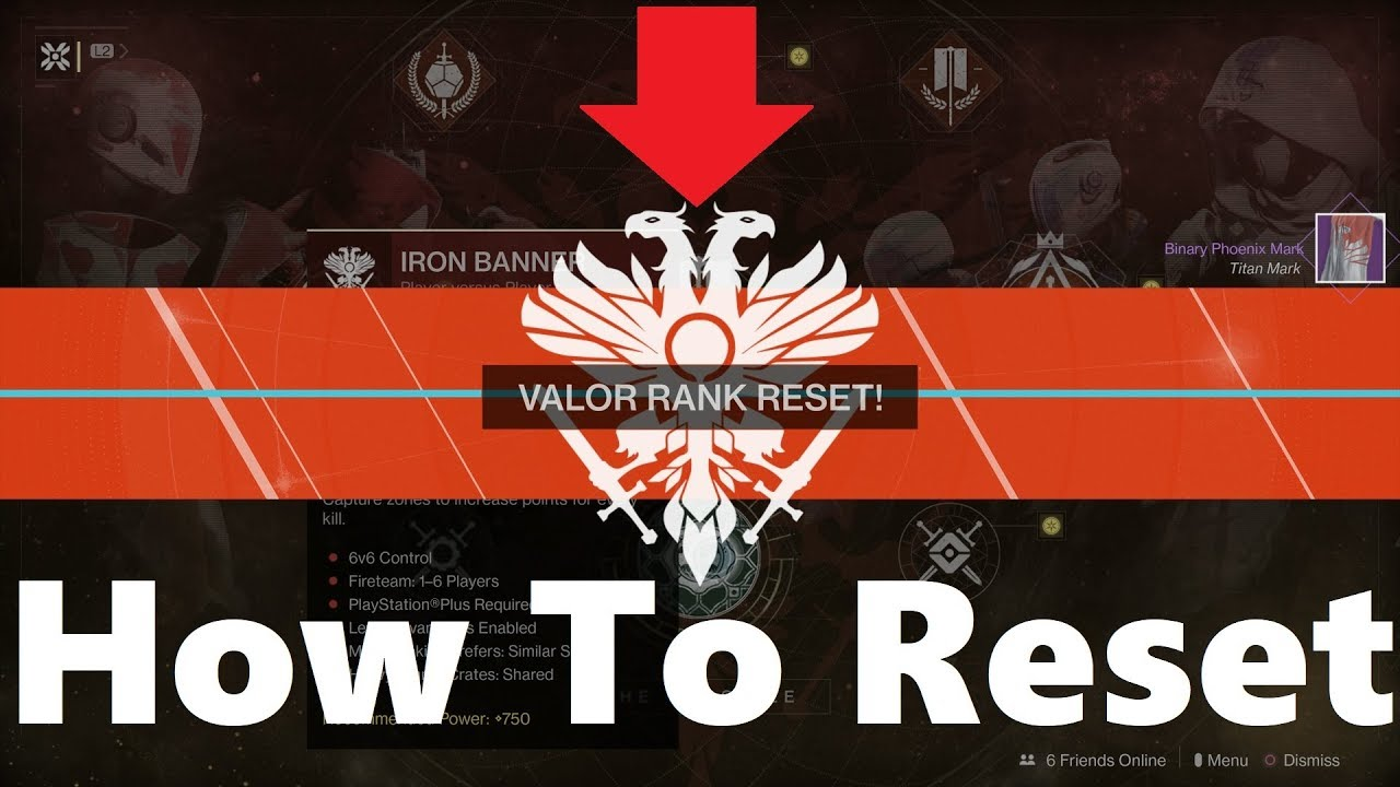 Reset Valor Rank in Destiny 2